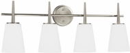 Seagull 4440404EN3-962 Driscoll Modern Brushed Nickel LED 4-Light Bathroom Wall Sconce