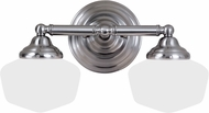 Seagull 44437-962 Academy Brushed Nickel 2-Light Bathroom Wall Sconce