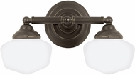Seagull 44437EN-782 Academy Heirloom Bronze LED 2-Light Bath Lighting Fixture