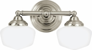 Seagull 44437EN-962 Academy Brushed Nickel LED 2-Light Bathroom Light Fixture