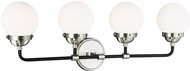 Seagull 4487904-962 Cafe Contemporary Brushed Nickel 4-Light Bathroom Vanity Light Fixture