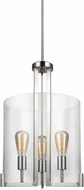 Seagull 5126003-962 Dawes Contemporary Brushed Nickel Foyer Light Fixture