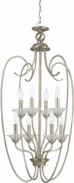 Seagull 51317EN-965 Lemont Contemporary Antique Brushed Nickel LED Foyer Lighting Fixture