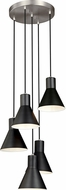 Seagull 5141305EN3-962 Towner Brushed Nickel LED Multi Pendant Light Fixture