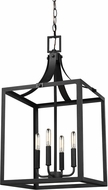 Seagull 5340604EN-12 Labette Black LED Foyer Lighting Fixture