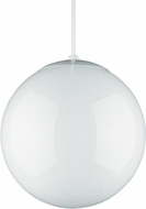Seagull 6018-15 Hanging Globe Contemporary White 10  Pendant Hanging Light