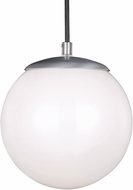 Seagull 601891S-04 Hanging Globe Modern Satin Aluminum LED 10  Hanging Light Fixture