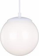Seagull 601891S-15 Hanging Globe Contemporary White LED 10 Drop Lighting