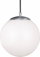 Seagull 602091S-04 Hanging Globe Contemporary Satin Aluminum LED 12  Ceiling Light Pendant