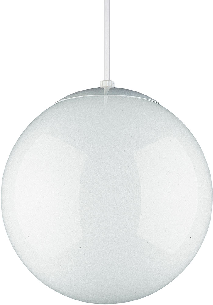 Seagull 6022 15 Hanging Globe Contemporary White 14 Drop Ceiling Light Fixture
