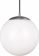 Seagull 602291S-04 Hanging Globe Modern Satin Aluminum LED 14  Drop Lighting Fixture