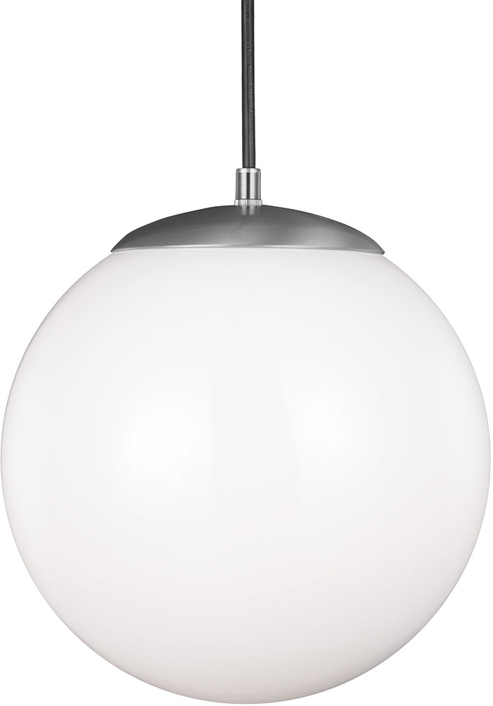 Seagull 602291s 04 Hanging Globe Modern Satin Aluminum Led 14 Nbsp Drop Lighting Fixture Loading Zoom