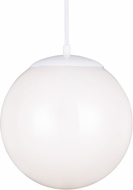 Seagull 602291S-15 Hanging Globe Contemporary White LED 12  Pendant Lighting