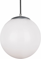 Seagull 602491S-04 Hanging Globe Contemporary Satin Aluminum LED Mini Lighting Pendant