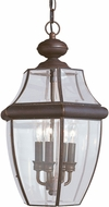 Seagull 6039-71 Lancaster Traditional Antique Bronze Outdoor Hanging Pendant Lighting