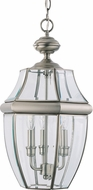 Seagull 6039-965 Lancaster Traditional Antique Brushed Nickel Exterior Hanging Pendant Light