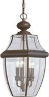 Seagull 6039EN-71 Lancaster Traditional Antique Bronze LED Outdoor Drop Lighting