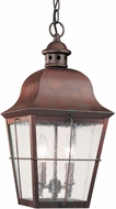 Seagull 6062-44 Chatham Traditional Weathered Copper Outdoor Ceiling Light Pendant