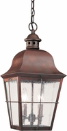 Seagull 6062EN-44 Chatham Traditional Silver LED Outdoor Pendant Lighting Fixture