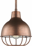 Seagull 6146501EN3-44 Jeyne Contemporary Weathered Copper LED Mini Hanging Light Fixture