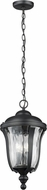Seagull 6214203EN-12 Perrywood Traditional Black LED Exterior Pendant Light Fixture