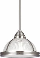 Seagull 65060-962 Pratt Street Prismatic Brushed Nickel 12.75  Pendant Lighting Fixture