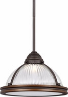 Seagull 6506091S-715 Pratt Street Prismatic Autumn Bronze LED 11  Hanging Light