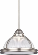 Seagull 6506091S-962 Pratt Street Prismatic Brushed Nickel LED 11  Pendant Light Fixture