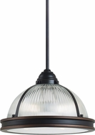 Seagull 65061-715 Pratt Street Prismatic Autumn Bronze 12.75  Pendant Hanging Light