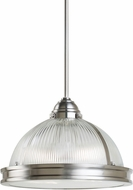Seagull 65061-962 Pratt Street Prismatic Brushed Nickel 16.25  Drop Ceiling Lighting