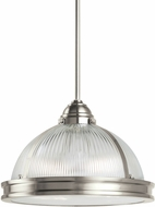 Seagull 65061EN-962 Pratt Street Prismatic Modern Brushed Nickel LED Hanging Pendant Lighting