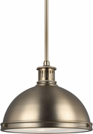 Seagull 6508693S-848 Pratt Street Metal Modern Satin Bronze LED 13  Pendant Light Fixture
