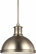 Seagull 6508793S-848 Pratt Street Metal Contemporary Satin Bronze LED 16  Hanging Pendant Light