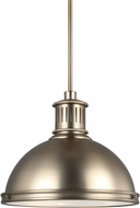 Seagull 65087EN3-848 Pratt Street Metal Modern Satin Bronze LED 16  Pendant Hanging Light