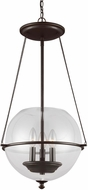 Seagull 6511903-715 Havenwood Contemporary Autumn Bronze Pendant Lighting Fixture