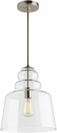 Seagull 6513501-962 Agatha Contemporary Brushed Nickel Hanging Pendant Lighting