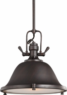 Seagull 6514401-710 Stone Street Nautical Burnt Sienna 13.25  Hanging Lamp