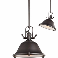Seagull 6514401EN-710 Stone Street Contemporary Burnt Sienna LED 13  Adjustable Pendant Light