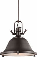 Seagull 6514402-710 Stone Street Nautical Burnt Sienna 17.25  Hanging Pendant Lighting