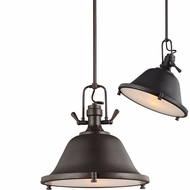 Seagull 6514402EN-710 Stone Street Contemporary Burnt Sienna LED 17  Adjustable Pendant Lamp
