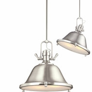 Seagull 6514402EN-962 Stone Street Modern Brushed Nickel LED 17  Adjustable Hanging Lamp