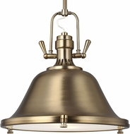 Seagull 6514402EN3-848 Stone Street Contemporary Satin Bronze LED 17  Drop Ceiling Lighting