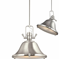 Seagull 6514403EN-962 Stone Street Modern Brushed Nickel LED 22  Adjustable Pendant Light Fixture