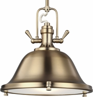 Seagull 6514403EN3-848 Stone Street Modern Satin Bronze LED 22  Ceiling Light Pendant