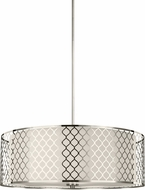 Seagull 6515504EN-962 Jourdanton Contemporary Brushed Nickel LED Drum Hanging Light Fixture