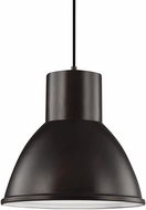 Seagull 6517493S-710 Division Street Contemporary Burnt Sienna LED Drop Ceiling Light Fixture