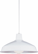 Seagull 6519-15 Painted Shade Pendants Modern White Pendant Hanging Light