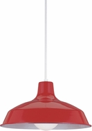 Seagull 6519-21 Painted Shade Pendants Contemporary Red Hanging Light Fixture