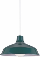 Seagull 6519-95 Painted Shade Pendants Modern Emerald Green Pendant Lighting