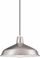 Seagull 6519-98 Painted Shade Pendants Contemporary Brushed Stainless Pendant Light